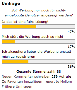 Drupal CMS Umfrage / Abstimmung