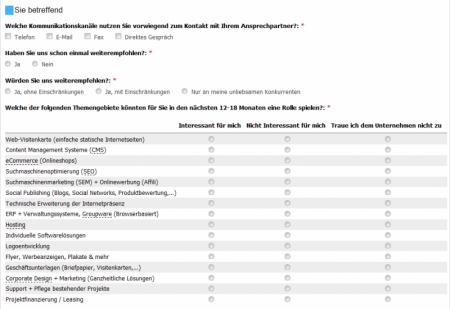 Drupal Webdesgin Online-Formulare